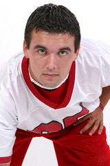 stock photography:  close up of young man in footb