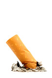 cigarette butt isolated poster