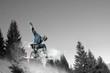 snowboardeur en couleur