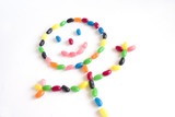 smiley jelly bean poster