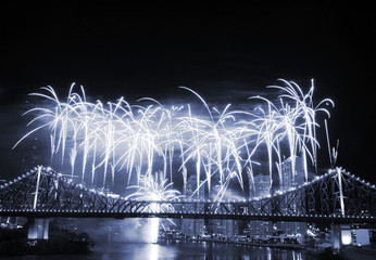 fireworks at story bridge