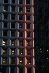 red windows buildings