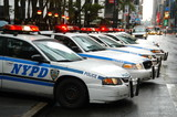 nypd police cars poster