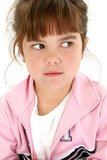 angry five year old girl poster