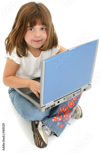 poster of beautiful five year old girl sitting on floor with