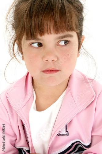 poster of angry five year old girl