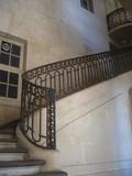 escalier - rampe en fer forgé