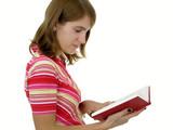 girl reading book poster