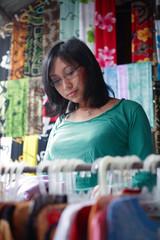 shopping at traditional asian market