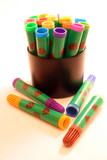 feutres couleur multicolores poster