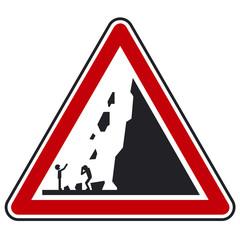 attention chute de pierre