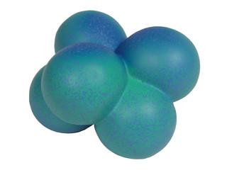 blue molecule shape -clipping path