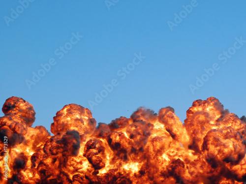 Leinwandbild Motiv fiery explosion