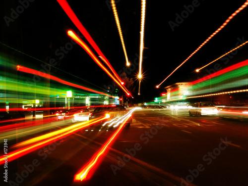Leinwanddruck Bild street motion