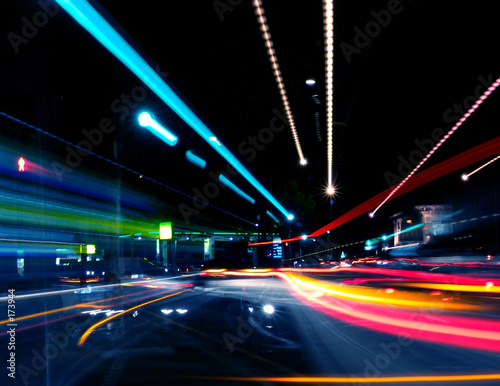 canvas print picture abstract street trails