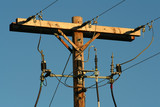 electric power pole poster