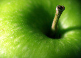 fresh apple macro poster