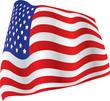 billowed american flag