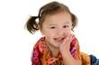 stock photography: japanese american toddler girl