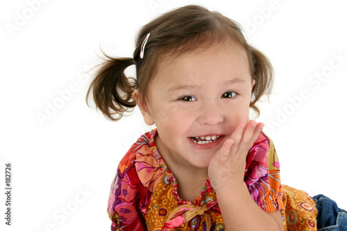 stock photography: japanese american toddler girl