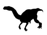 dinosaur silhouette poster