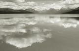 lake mcdonald--homage to ansel adams poster