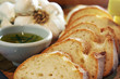 garlic bread and rosemary oil