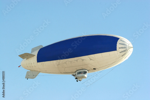 blue copy space on blimp to advertise your message - 188551