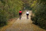 biking couple poster