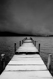 jetty view in black & white - 189110