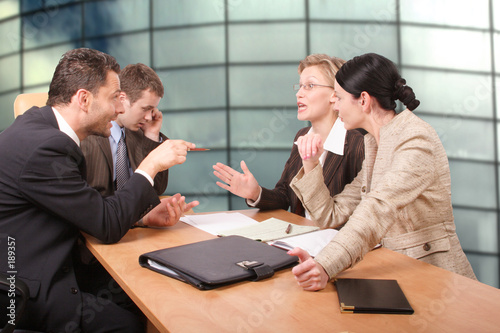 Photo: business negotiations - 2 men 2 women © endostock #