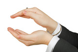 business protection hands poster