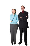 business couple standing poster