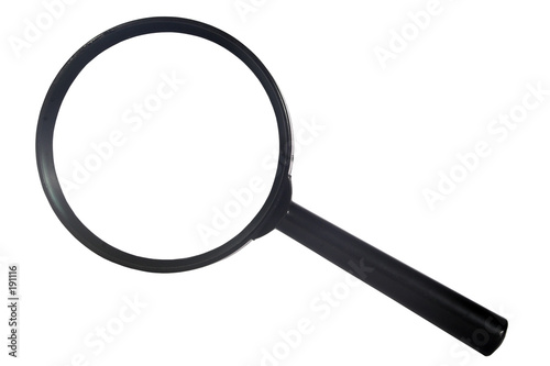 poster of black magnifying glass from the top