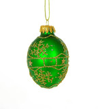 green christmas ornament poster