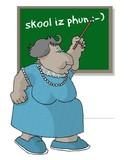 teacher at the blackboard poster