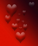 valentine hearts floating poster