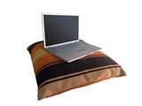 laptop on pillow poster