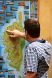 tourist map poster