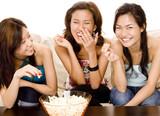 eating popcorn poster