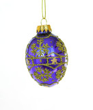blue christmas ornament poster