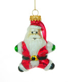 santa claus christmas ornament poster