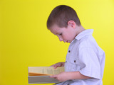 boy with a book 1 poster