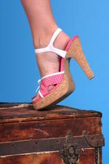 polkadot shoe