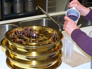 preparing communion