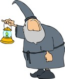 wizard with a lantern poster