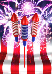 fireworks & bottlerockets 3d
