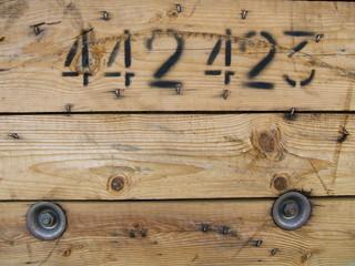 bois numéroté