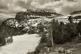 peaks, glacier national park poster