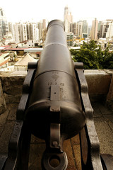 cannon of monte fort in macau